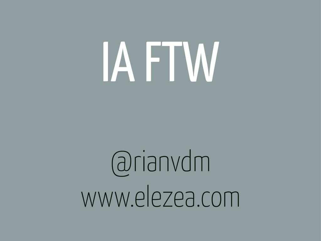 @rianvdm www.elezea.com IA FTW