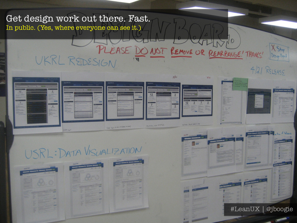 Get design work out there. Fast. In public. (Y...