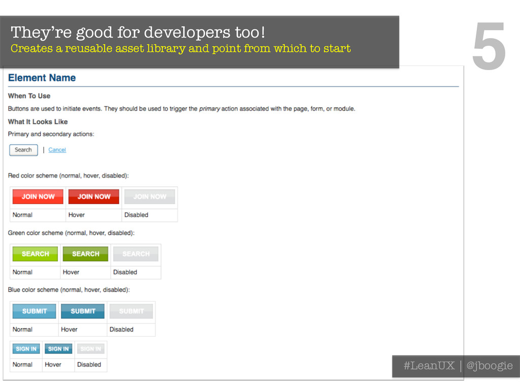 They're good for developers too! Creates a reu...