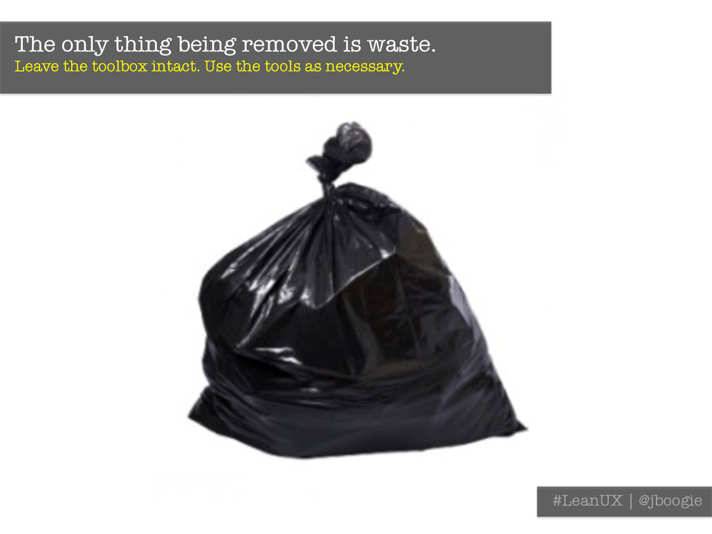 The only thing being removed is waste. Leave t...