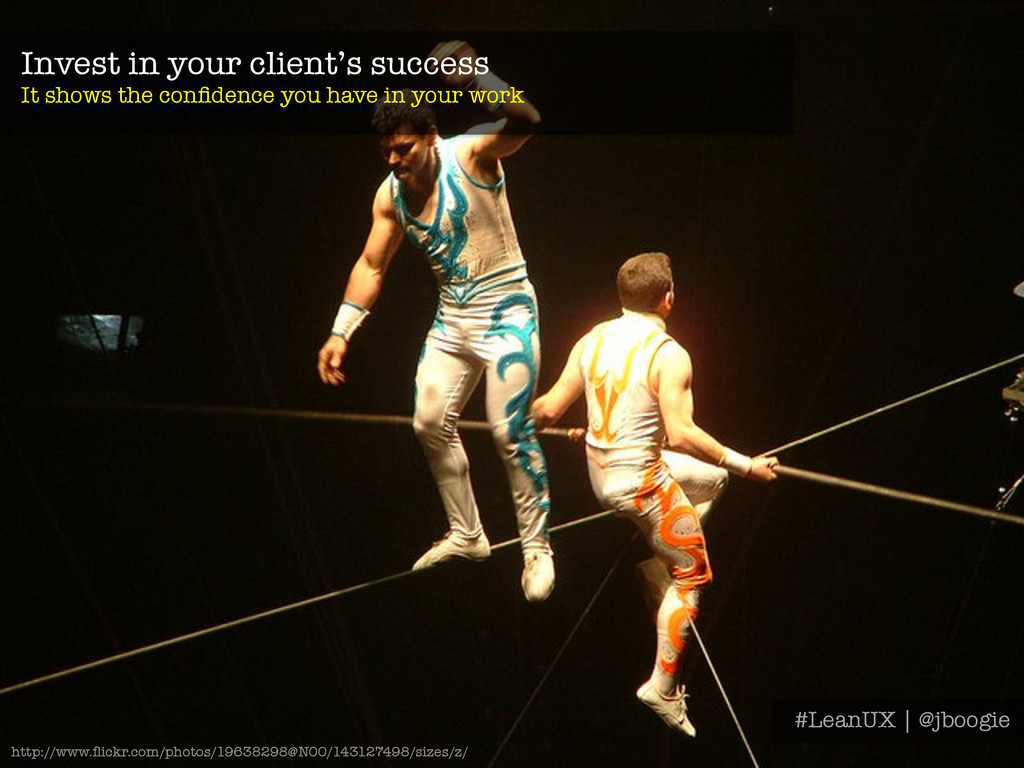 Invest in your client's success It shows the c...