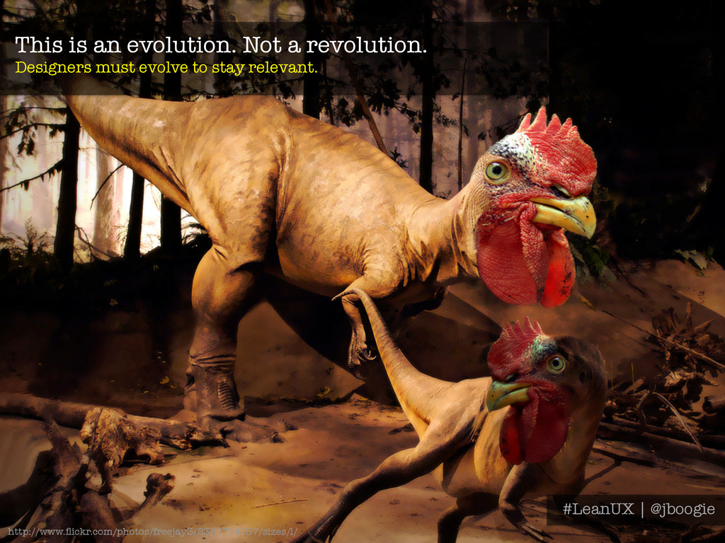 This is an evolution. Not a revolution. Design...