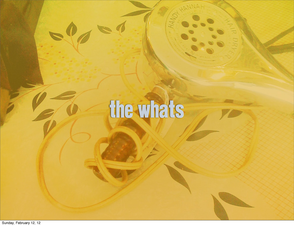the whats Sunday, February 12, 12