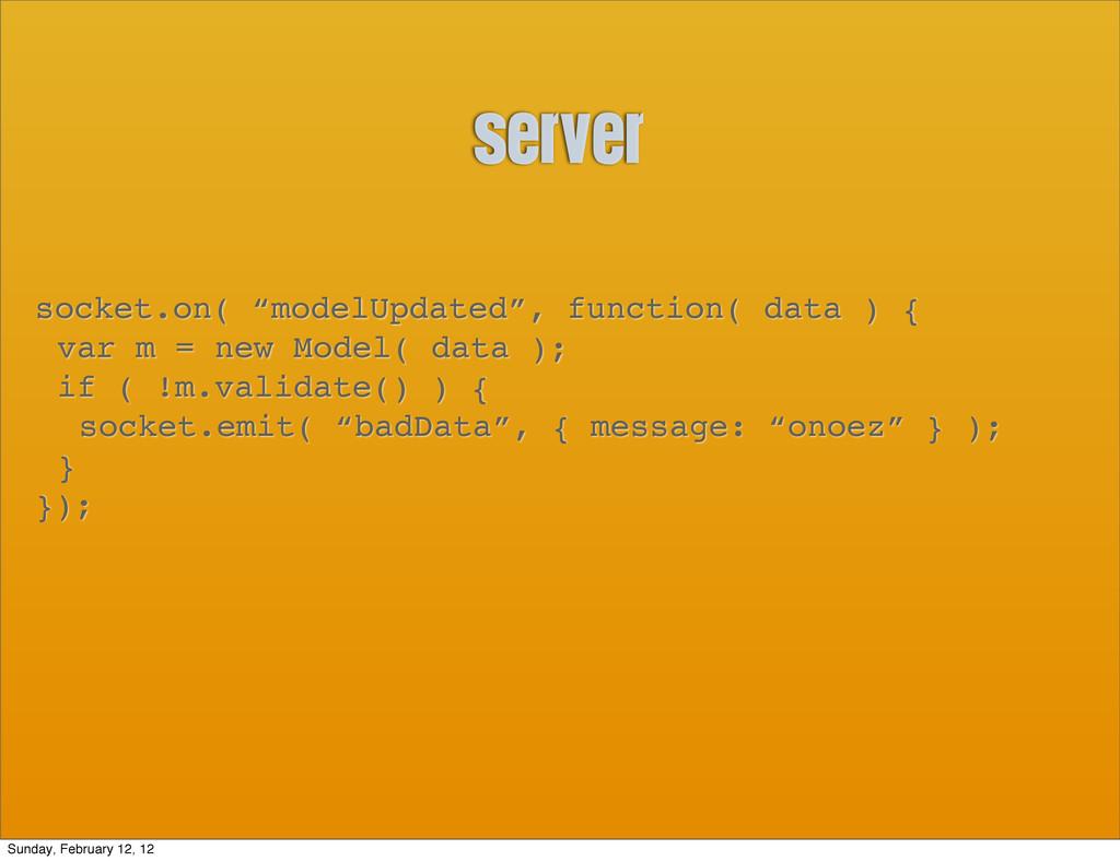"""server socket.on( """"modelUpdated"""", function( dat..."""