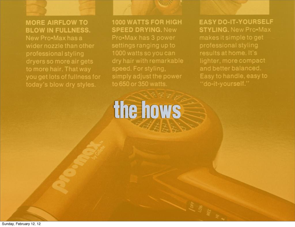 the hows Sunday, February 12, 12