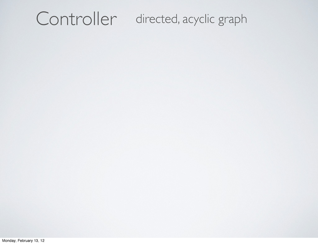 ontroller C directed, acyclic graph Monday, Feb...
