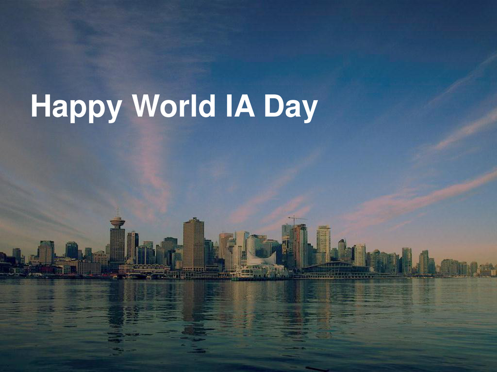 Happy World IA Day