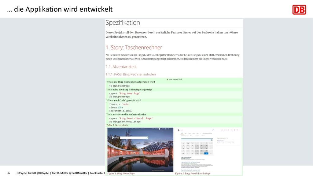 … die Applikation wird entwickelt DB Systel Gmb...