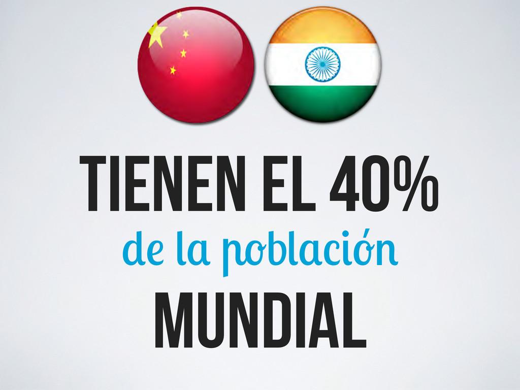 mundial tienen el 40% b