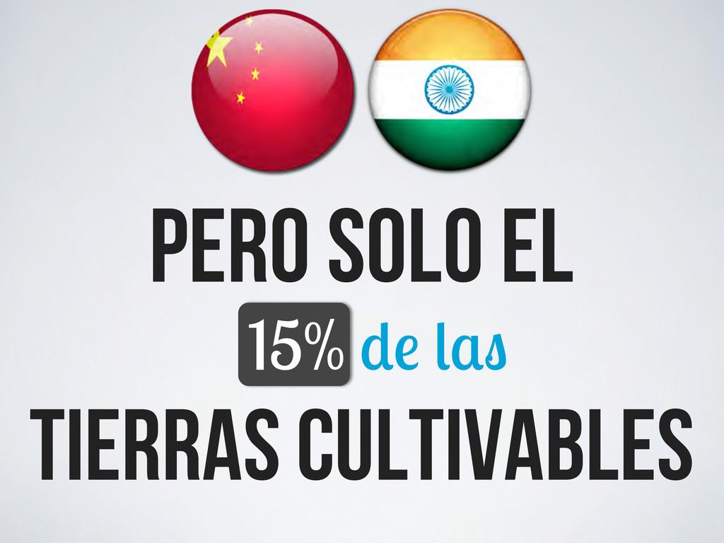tierras cultivables pero solo el 15%