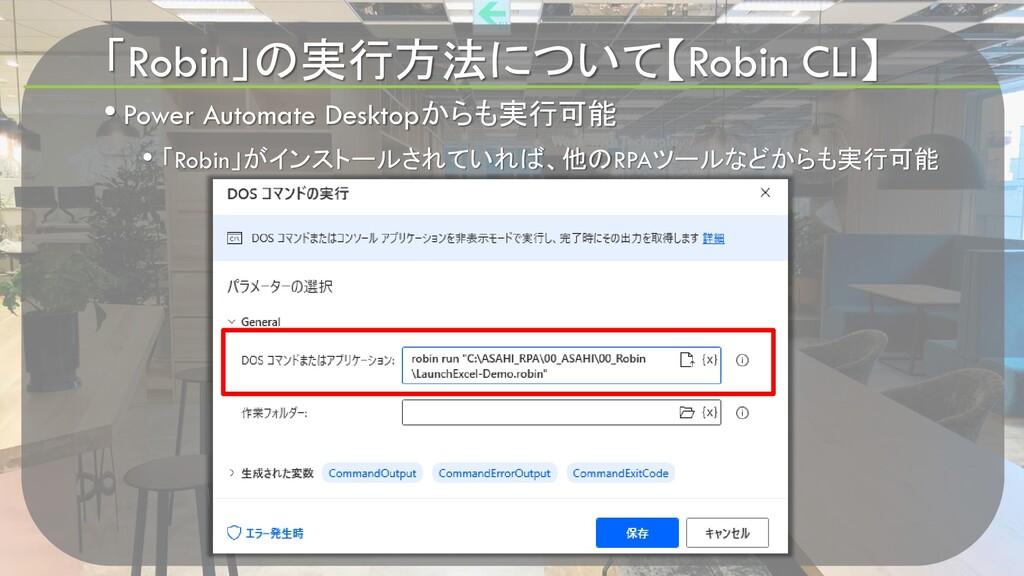 「Robin」の実行方法について【Robin CLI】 • Power Automate De...