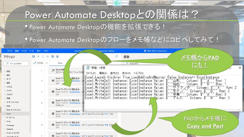Power Automate Desktopとの関係は? • Power Automate D...