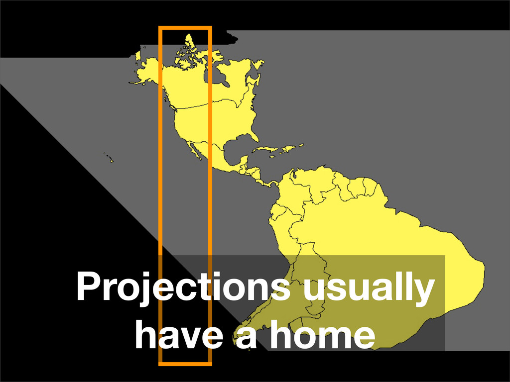 Projections usually have a home