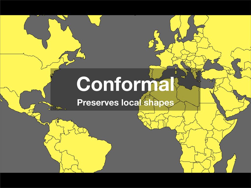 Conformal Preserves local shapes