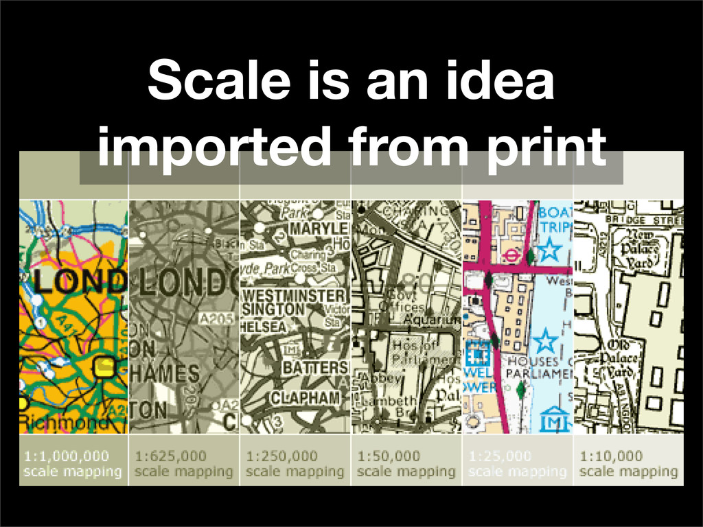 Scale is an idea imported from print