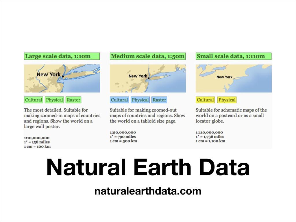 Natural Earth Data naturalearthdata.com