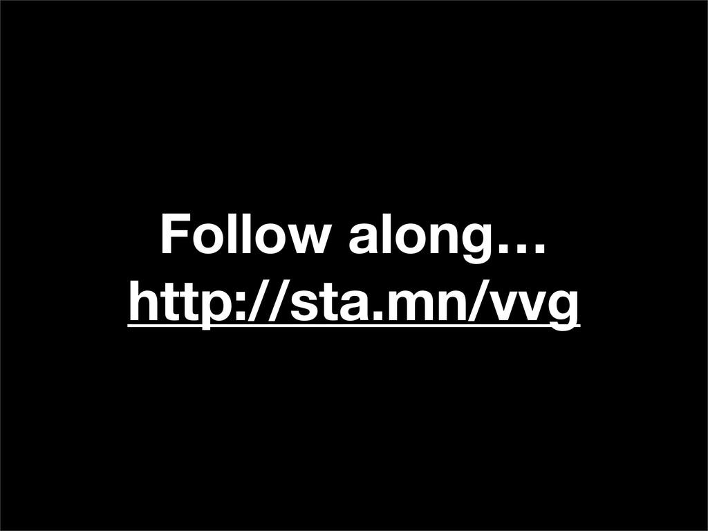 Follow along… http://sta.mn/vvg