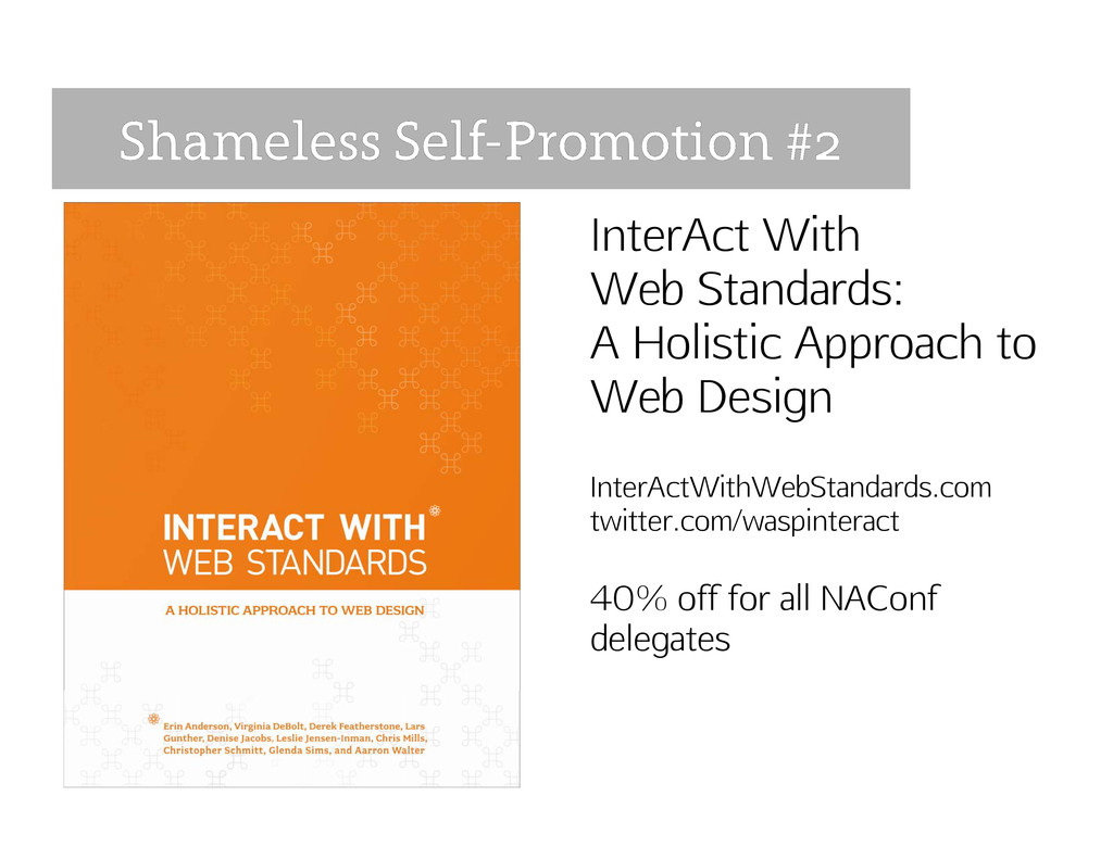 InterAct With Web Standards: A Holistic Approac...