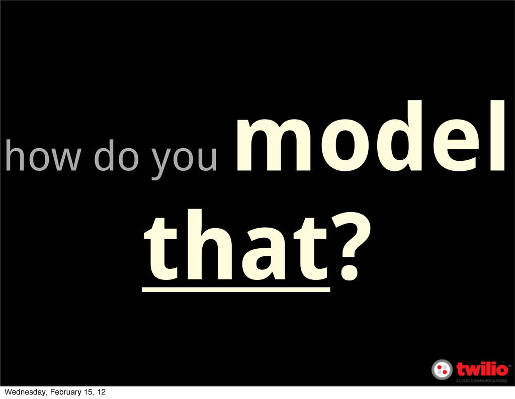 how do you model that? Wednesday, February 15, ...
