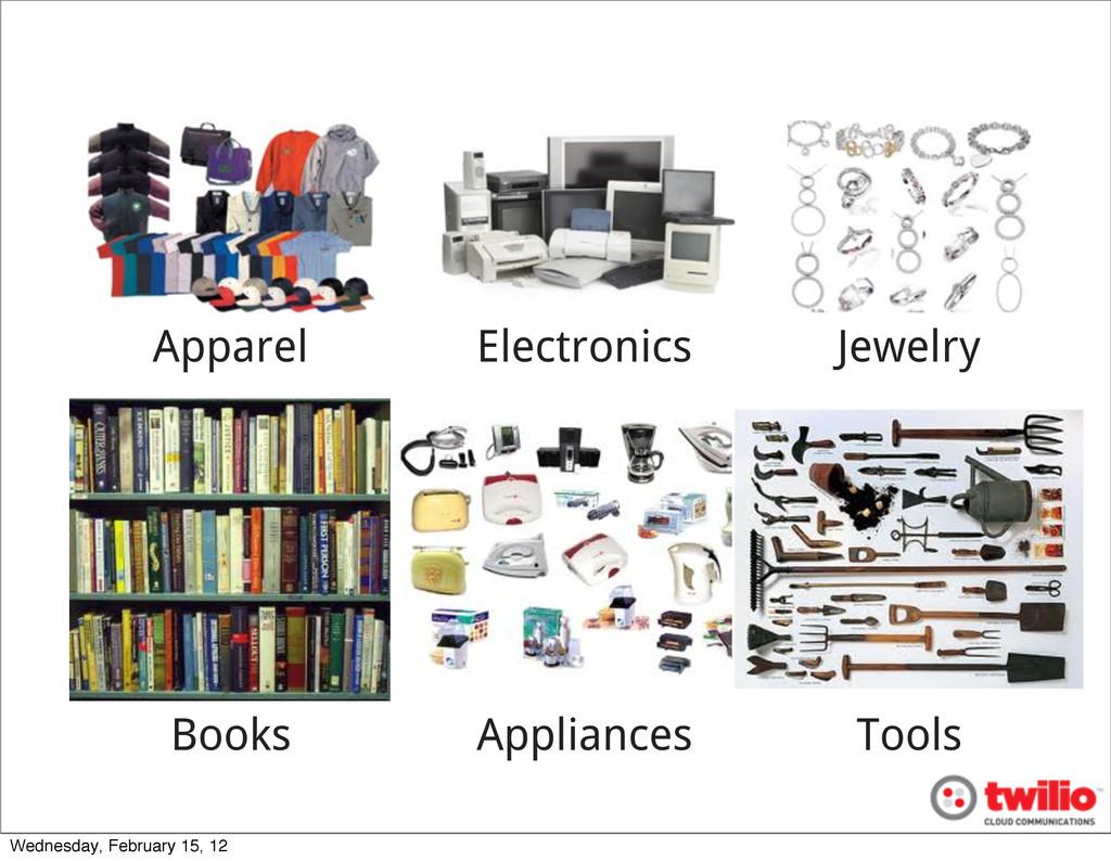 Apparel Electronics Jewelry Books Appliances To...