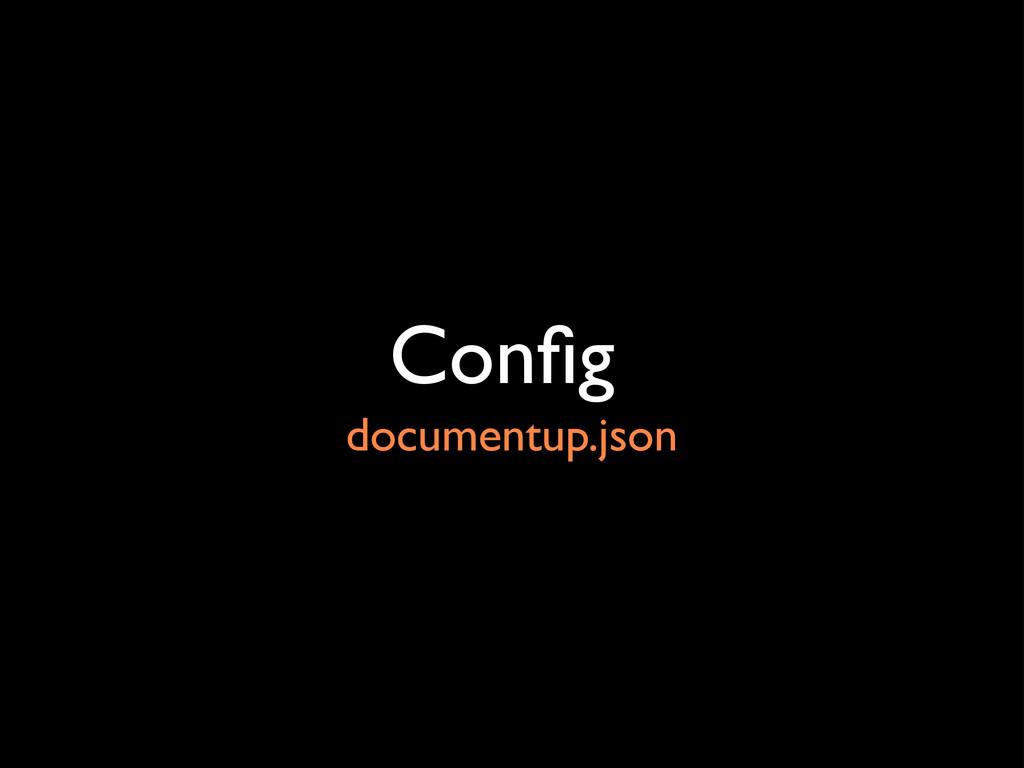 Config documentup.json