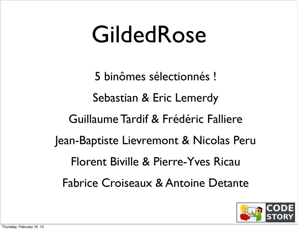 GildedRose 5 binômes sélectionnés ! Sebastian &...