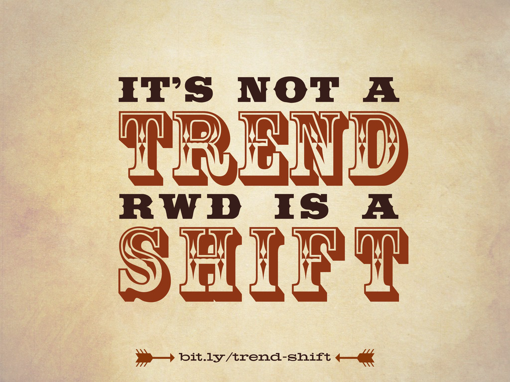bit.ly/trend-shift trend shift IT'S NOT A RWD I...