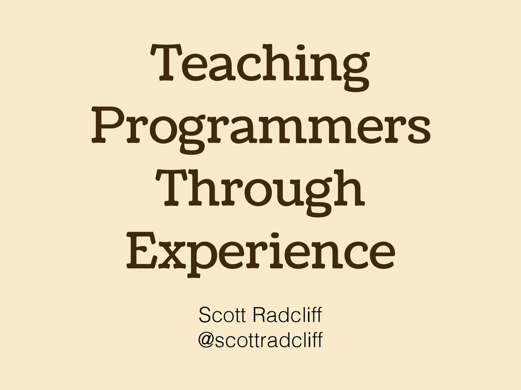 Teaching