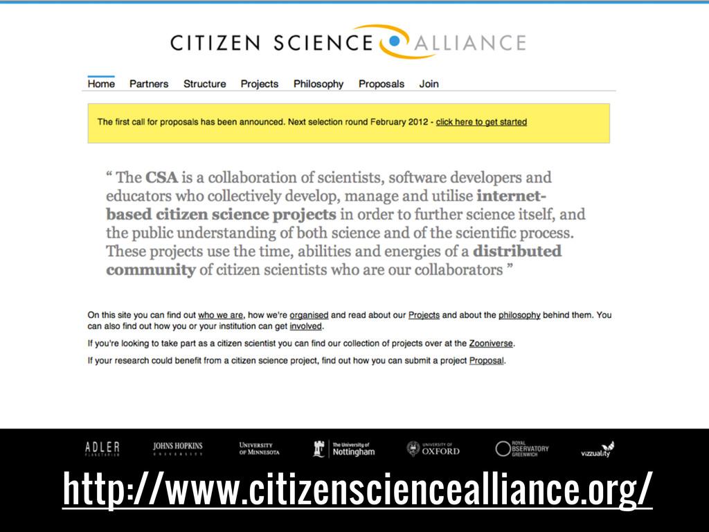 http://www.citizensciencealliance.org/