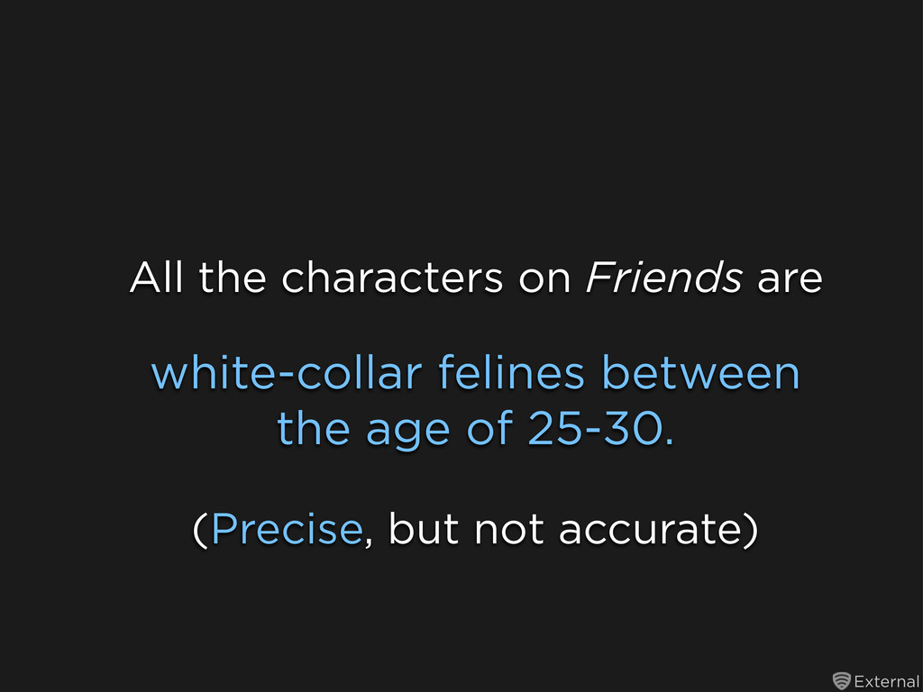 External white-collar felines between the age o...