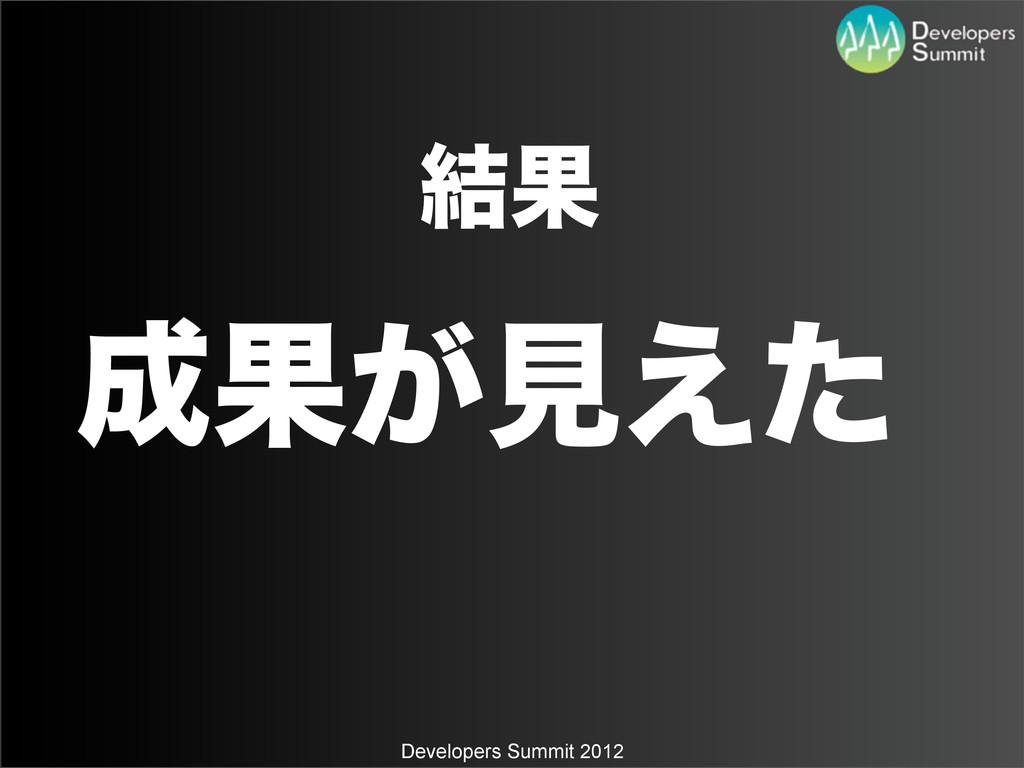 Developers Summit 2012 ݁Ռ Ռ͕ݟ͑ͨ
