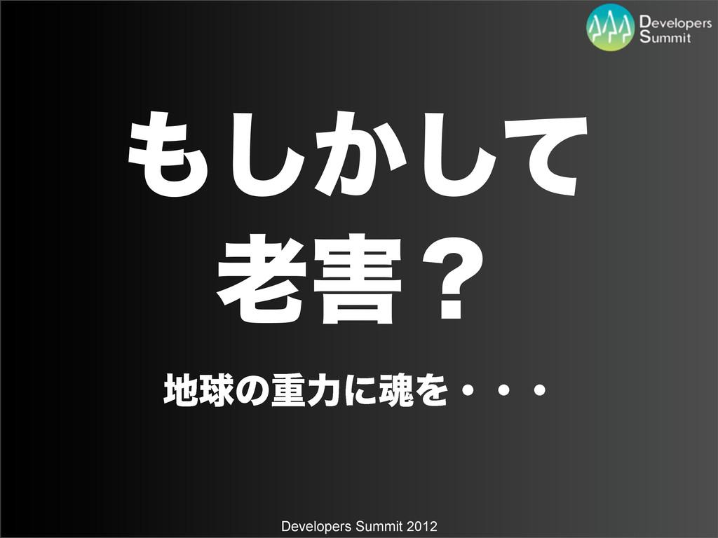 Developers Summit 2012 ͔ͯ͠͠ ʁ ٿͷॏྗʹࠢΛɾɾɾ