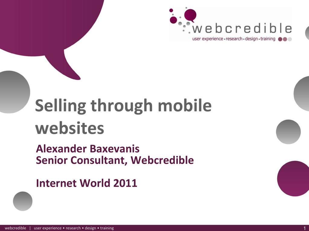 www.webcredible.co.uk 1 webcredible | user expe...