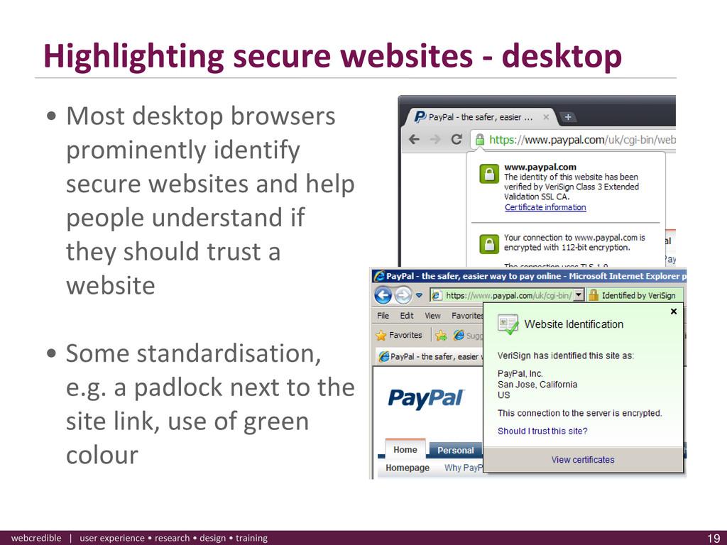 www.webcredible.co.uk 19 webcredible | user exp...