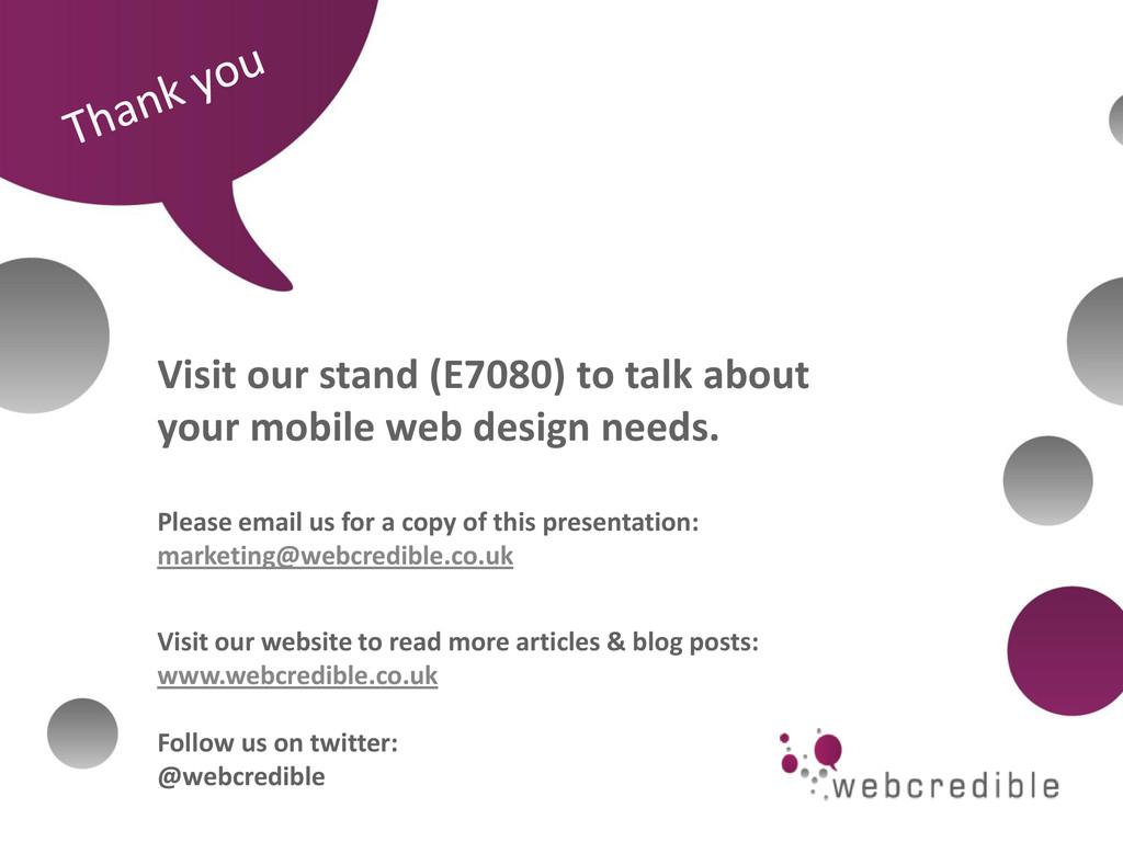 www.webcredible.co.uk 28 webcredible | user exp...