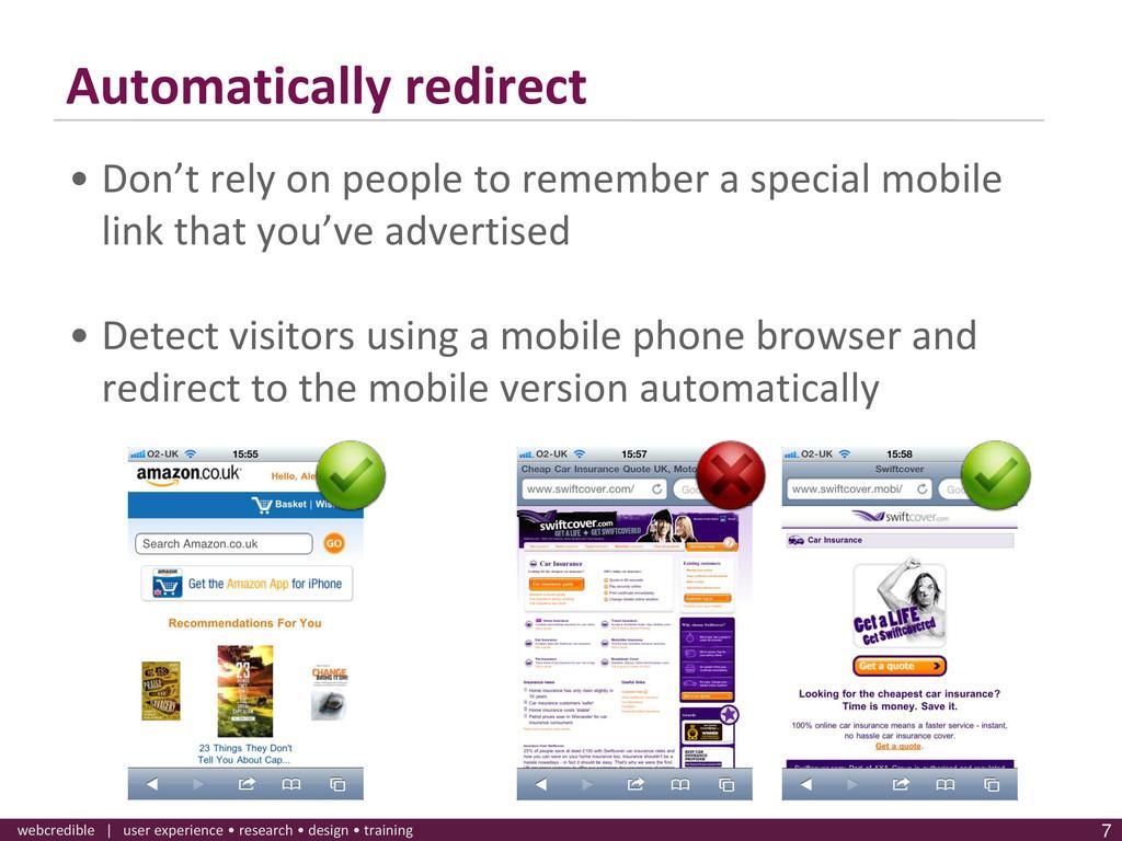www.webcredible.co.uk 7 webcredible | user expe...