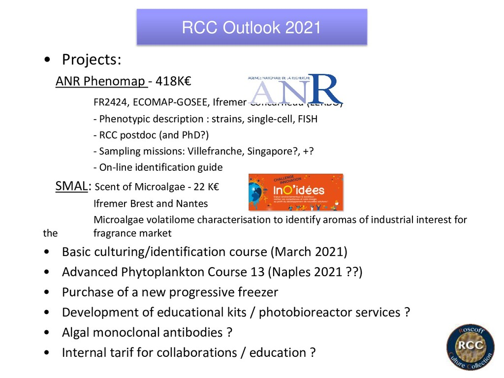 RCC Outlook 2021 • Projects: ANR Phenomap - 418...