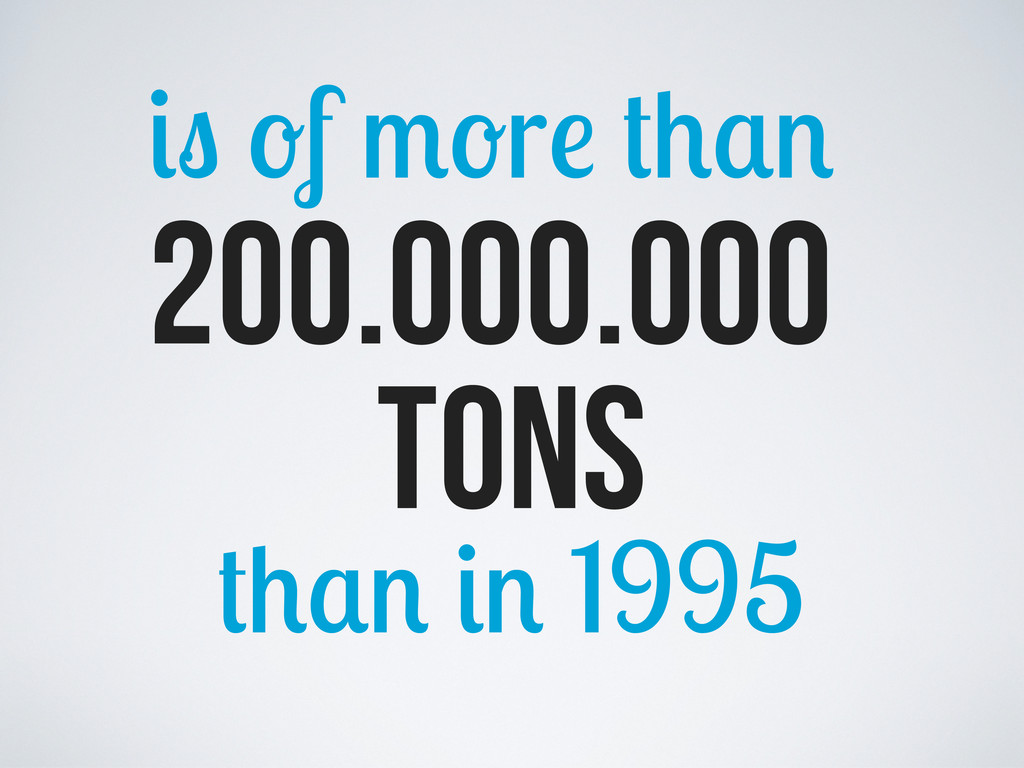 200.000.000 f r tons 1995