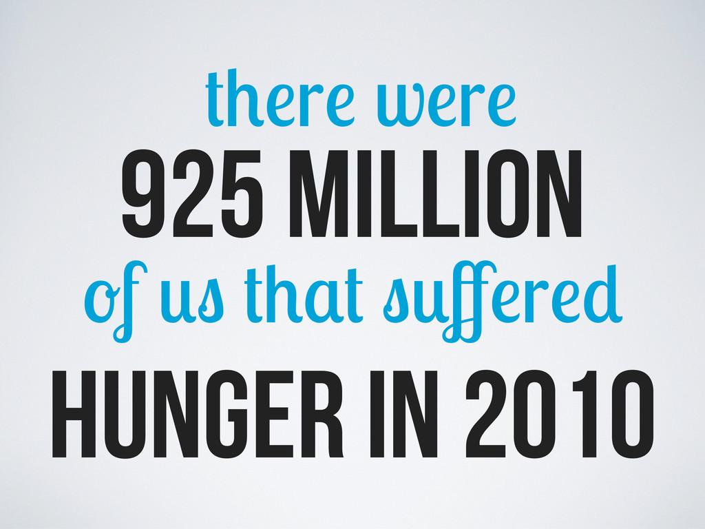 925 million r w r f ff r hunger in 2010