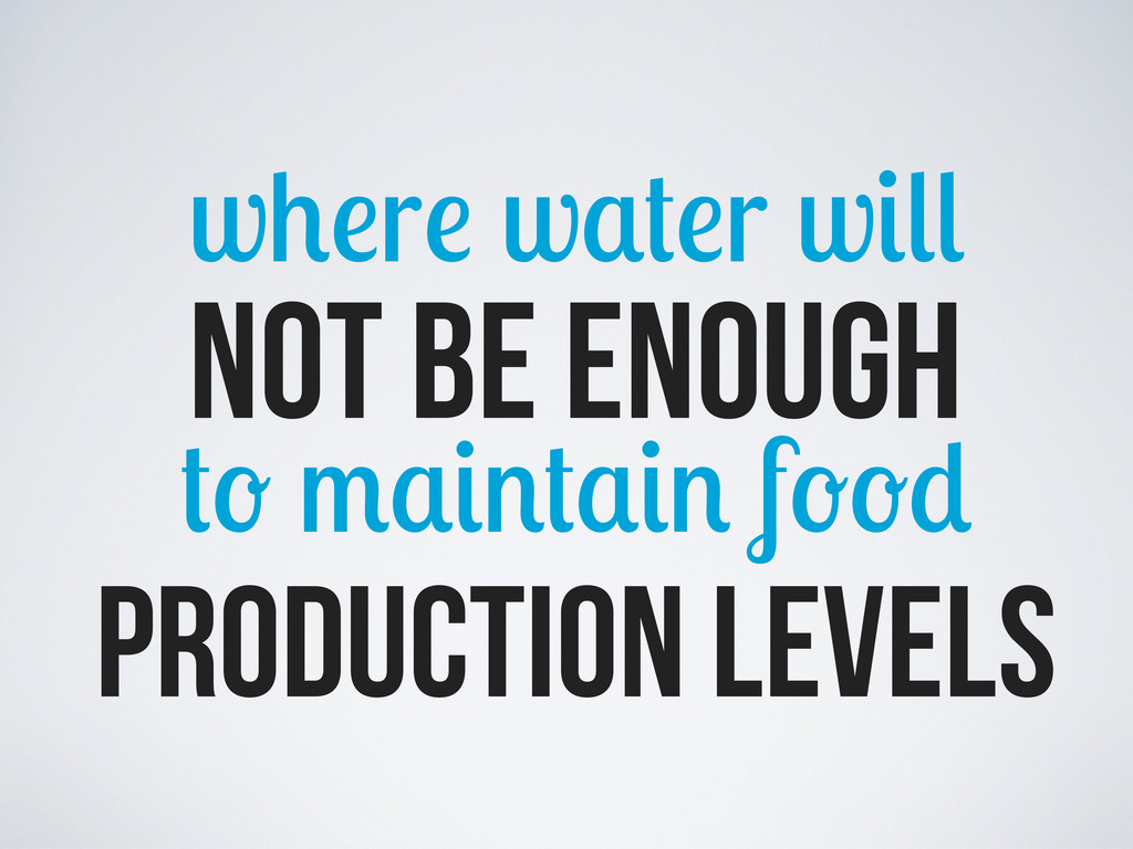 w r w r w not be enough f production levels