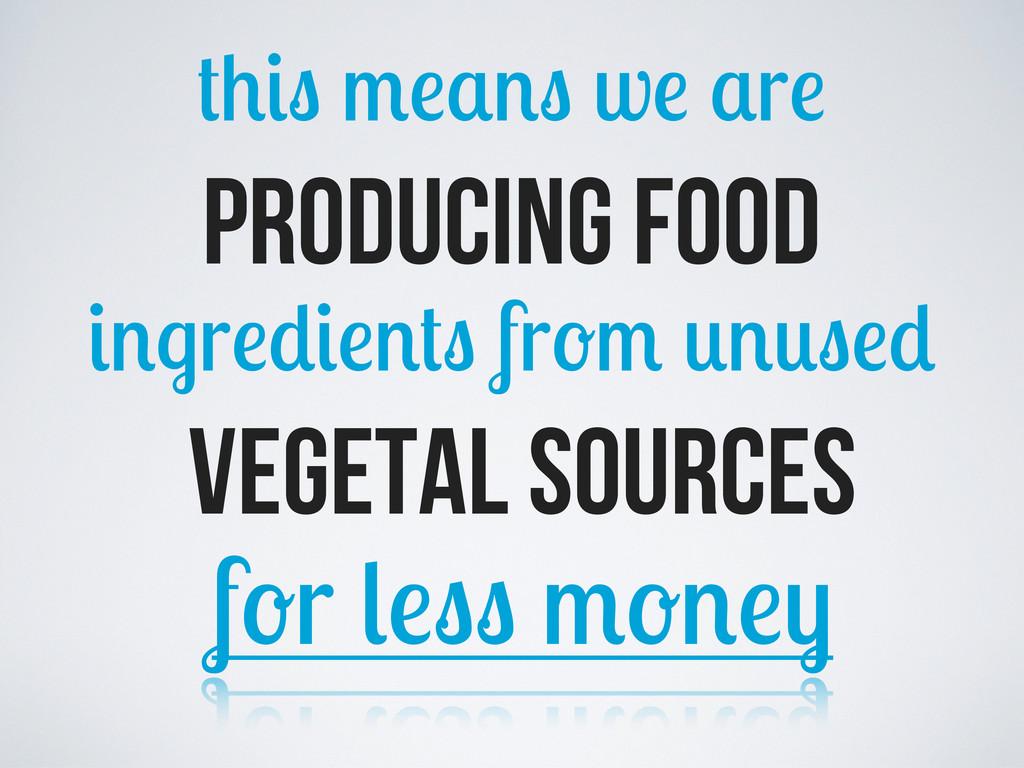 w r producing food r fr vegetal sources f r