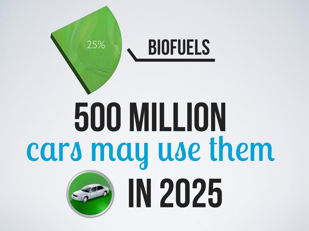 25% Biofuels 500 million r in 2025