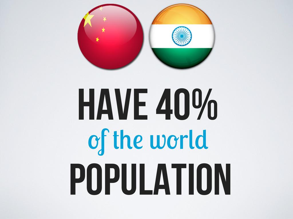 population have 40% f w r
