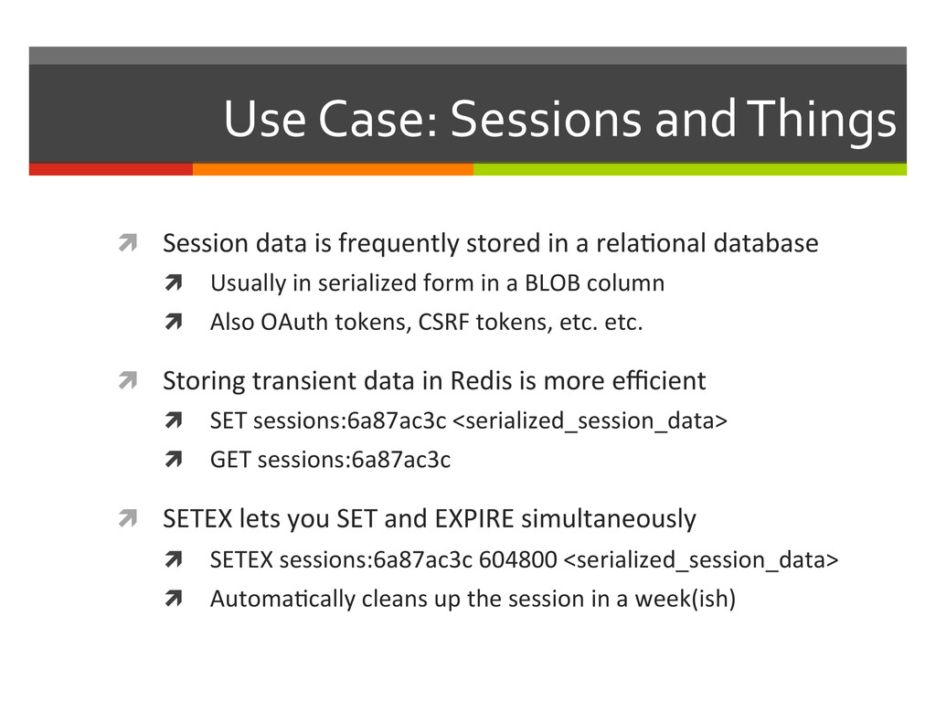 Use Case: Sessions and Things  ì...