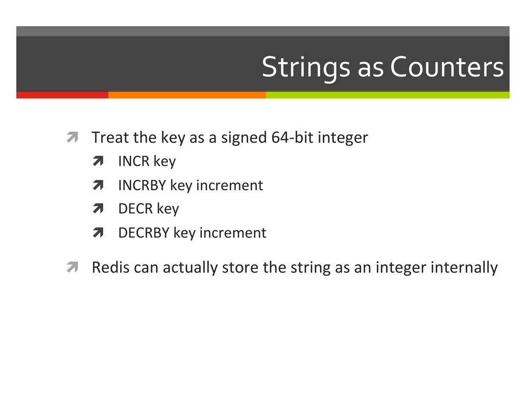 Strings as Counters  ì Treat the...