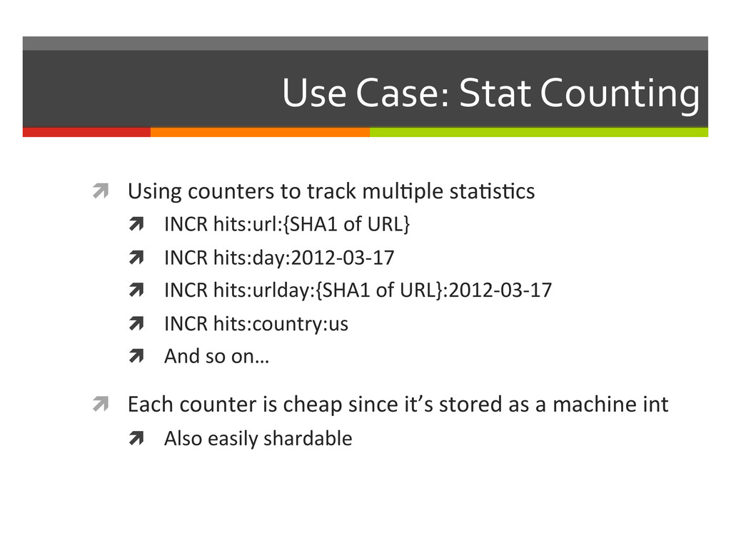 Use Case: Stat Counting  ì Using...