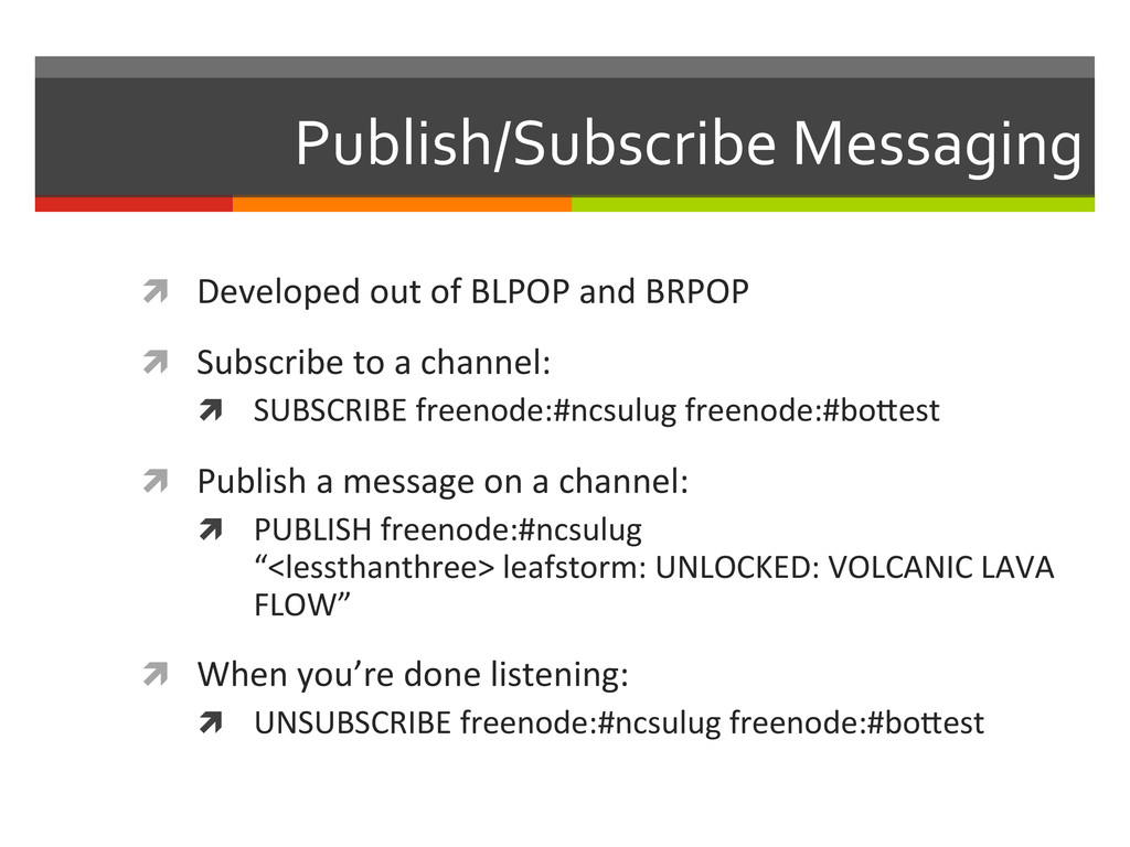 Publish/Subscribe Messaging  ì Develope...