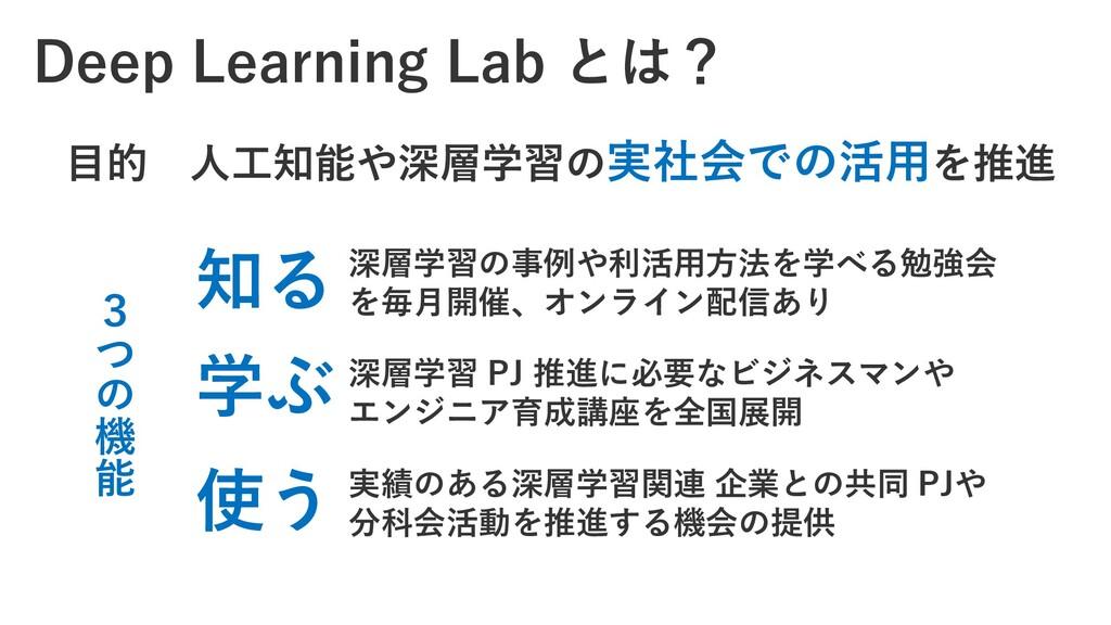Deep Learning Lab とは? 深層学習の事例や利活用方法を学べる勉強会 を毎月開...
