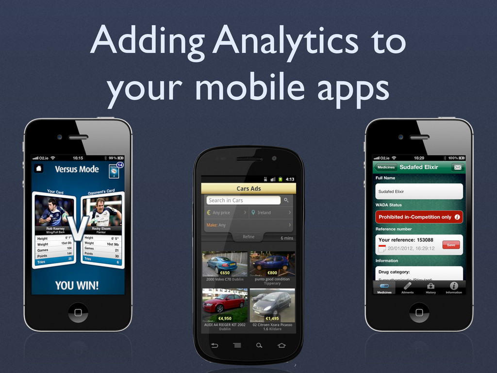 Adding Analytics to your mobile apps