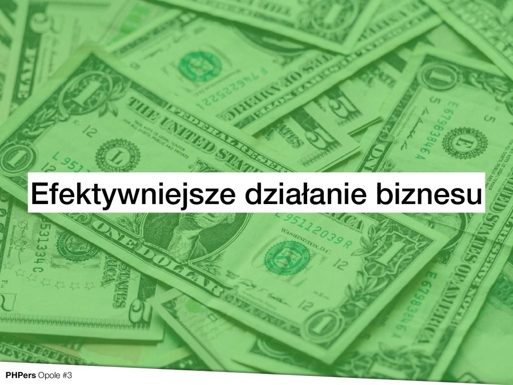 Efektywniejsze działanie biznesu PHPers Opole #3
